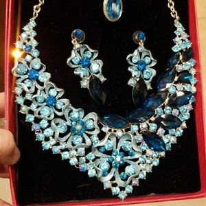 3-piece Necklace, Earrings & Ring Rhinestone Set